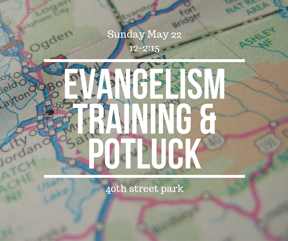 Evangelism Training and Potluck Lunch