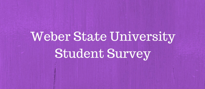 Weber State Student Survey Results