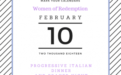 Women of Redemption Progressive Dinner
