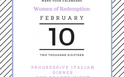Women of Redemption Progressive Dinner