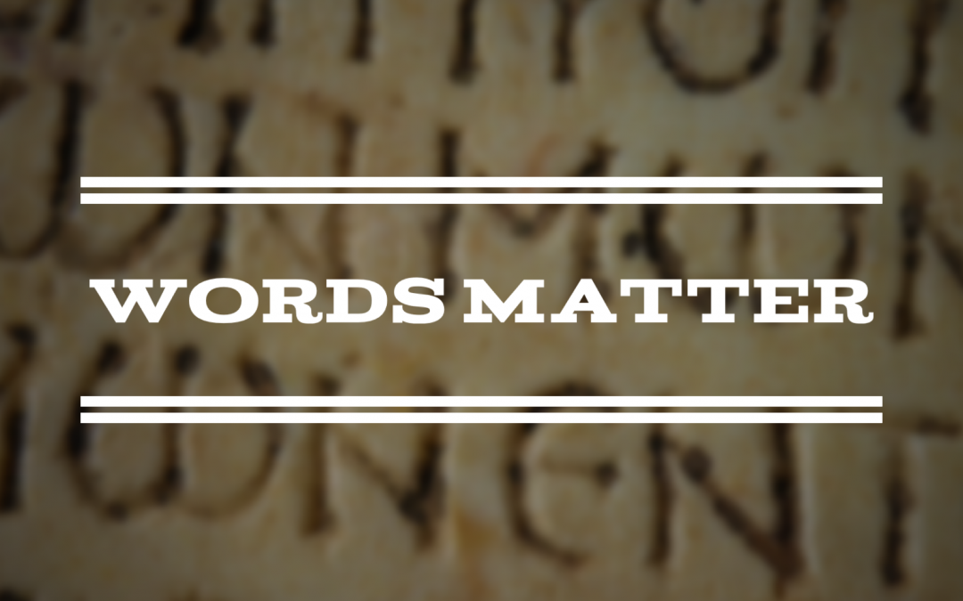 Words Matter: Dueling Commentaries