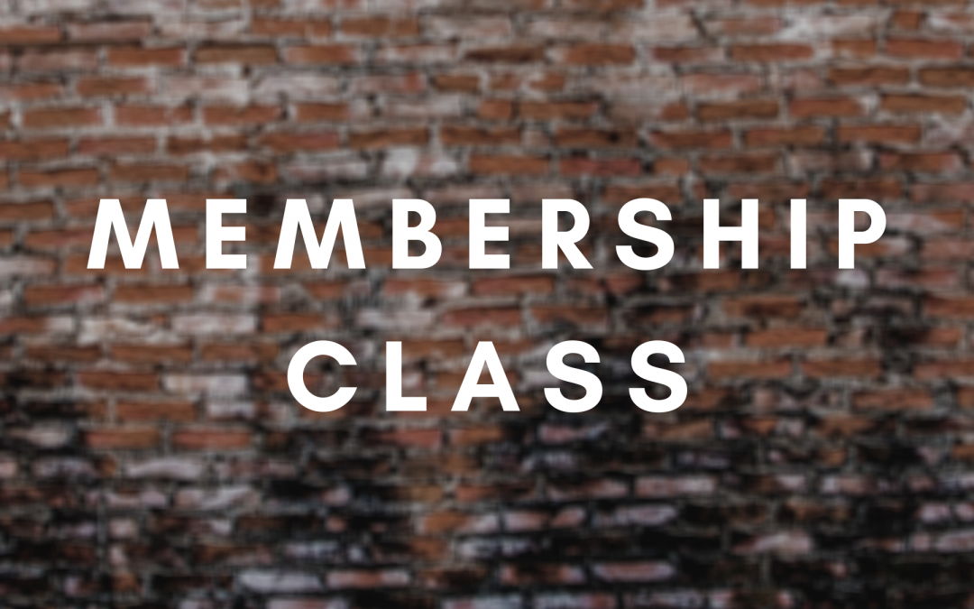 New To Redemption/Membership Class